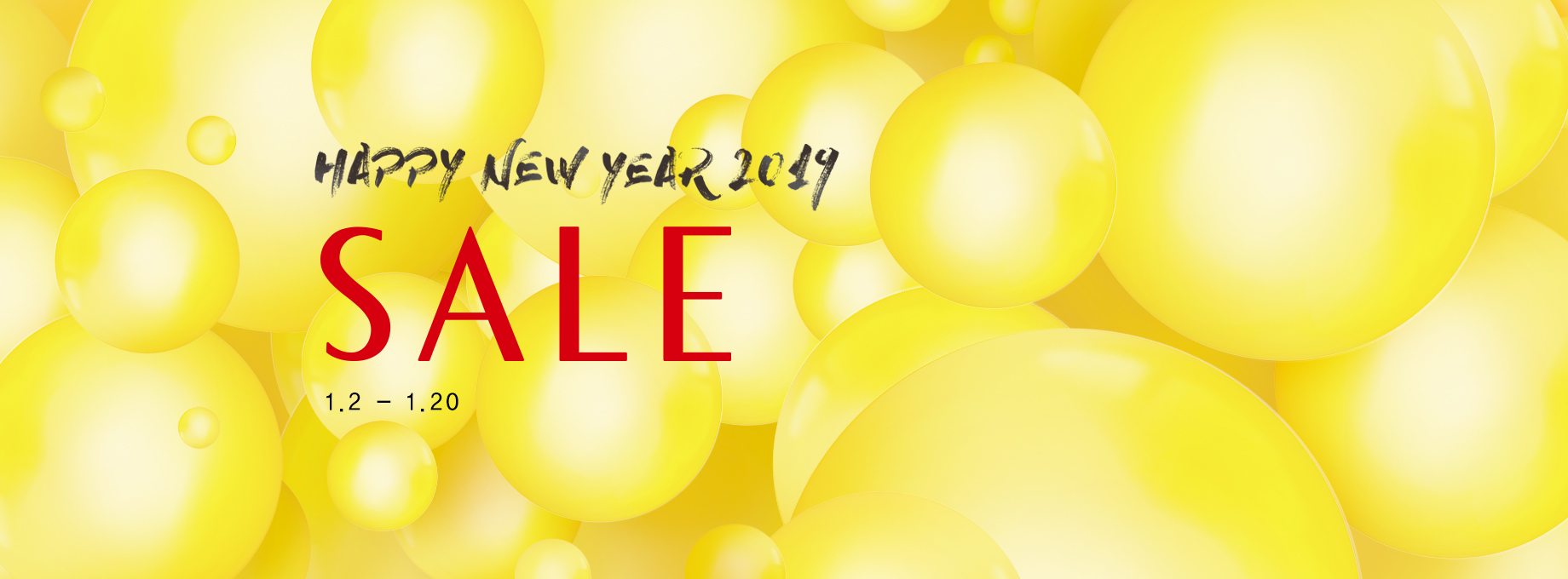 HAPPY NEW YEAR 2019 SALE 기간 : 1월 2일~1월20일