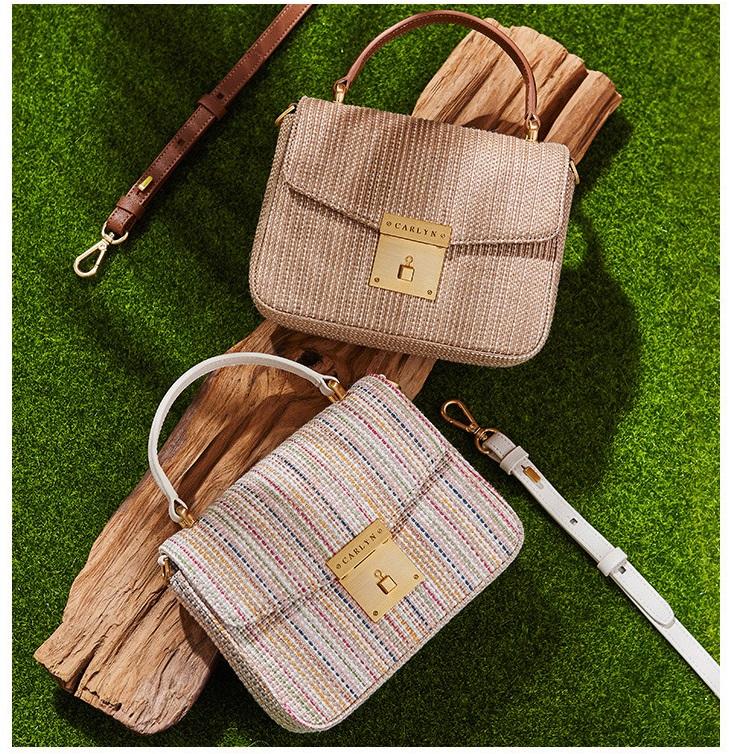 [칼린] 라피아 포피 핸드백
