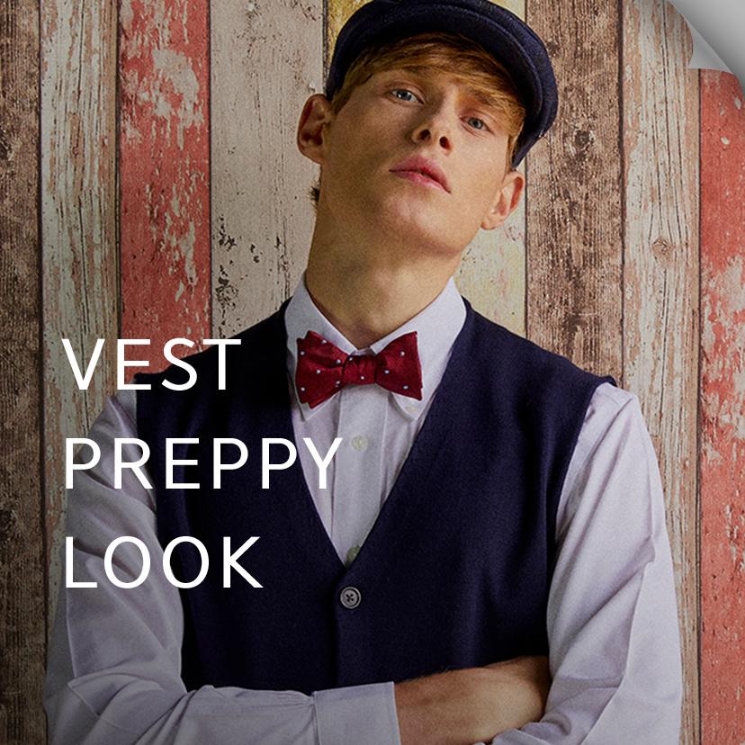 Best of Vest Preppy Look