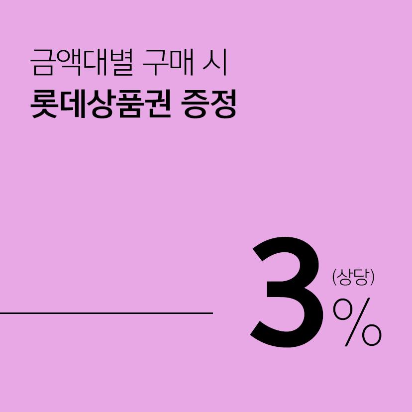 [롯데백화점APP사은] 리빙브랜드 1/2/3백만 구매시 모바일상품권 3/6/9만원 증정